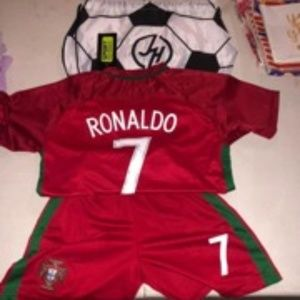 Kids Ronaldo Soccer outfit with bag size 7